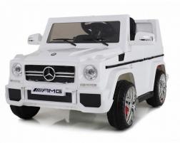 Детский электромобиль Mercedes Benz G65 (белый)