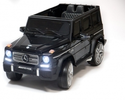 Детский электромобиль Mercedes Benz G65(4*4) (черный глянец )