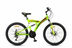 24 Велосипед MAXXPRO SENSOR PRO зелено-оранжевый