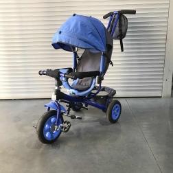 Велосипед 3-х колесный Vivat Синяя рама Голубой текстиль