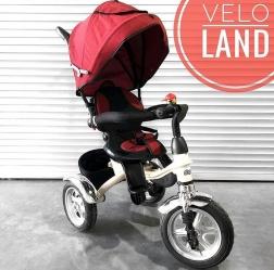 Велосипед 3-х колесный Барс JC-986 Молочная рама Бордовый текстиль