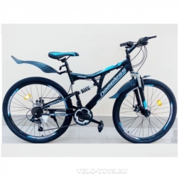 26″ Велосипед NAMELESS V6200D (черн.мат/синий)