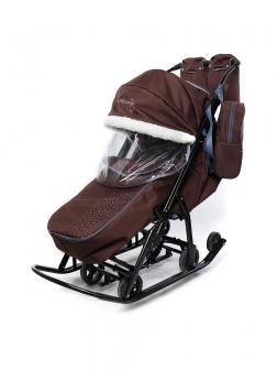 Санки-коляска Picate  Снеговик «Шоколад»